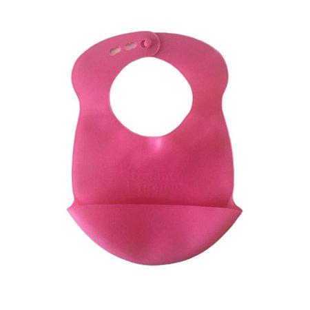 Babador de silicone - com bolso cata migalha