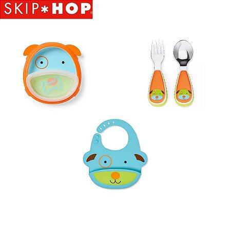 Combo Skip Hop - Babador, prato com tigela e talheres