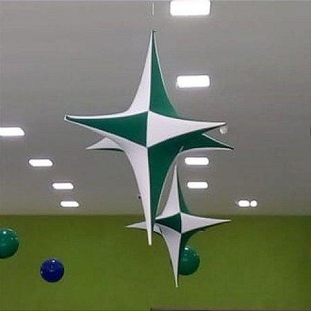 Estrela de Tecido p/ Decoração 1,05 cm²