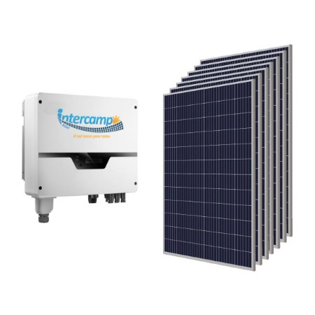 KIT (630Kwh - 4,158KWp) 1Inversor 5K + 14Módulos Policristalinos + 1String Box