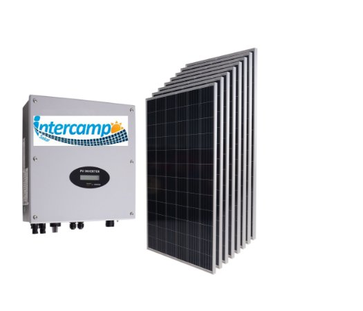 KIT (765Kwh - 5,049KWp) 1Inversor 5K + 17Módulos Policristalinos + 1String Box