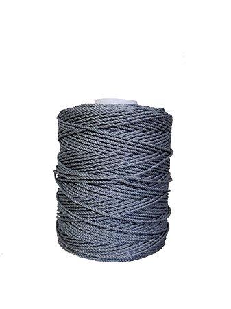 Corda De Polietileno Para Rede De Proteção 120 Metros 4mm - PRATA