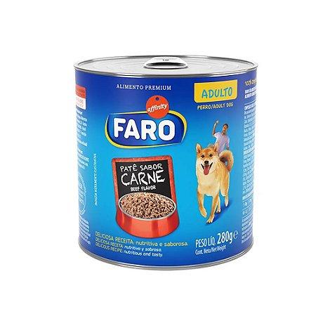 Ração Úmida Faro Affinity Adulto Carne Lata 280g para Cães Adultos