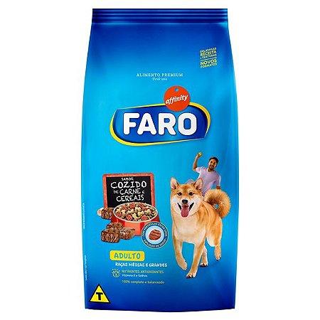 Ração Faro Affinity Adulto Raças Médias e Grandes Cozido de Carne e Cereais para Cães Adultos
