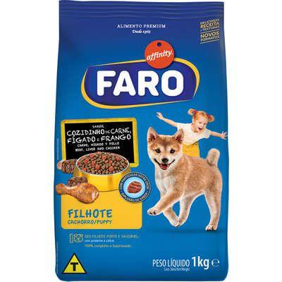 Ração Faro Affinity Cozidinho de Carne, Fígado e Frango para Cães Filhotes