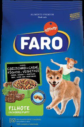 Ração Faro Cozidinho de Carne, Fígado e Vegetais para Cães Filhotes