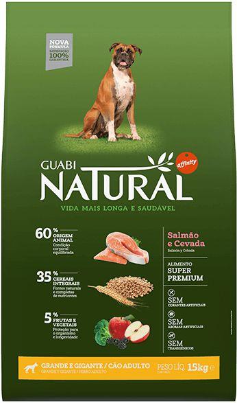 Ração Affinity Guabi Natural Salmão e Cevada para Cães Adultos Raças Grandes e Gigantes 15 Kg
