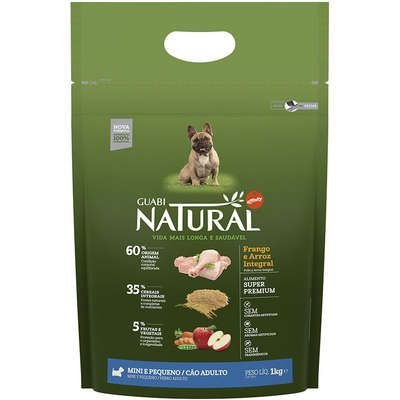 Ração Affinity Guabi Natural Frango e Arroz Integral para Cães Adultos Raças Mini e Pequena