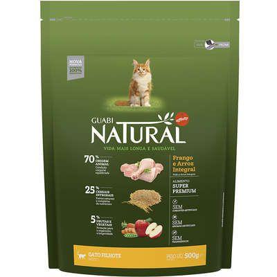 Ração Affinity Guabi Natural Frango e Arroz Integral para Gatos Filhotes