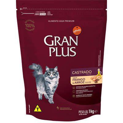 Ração Seca Affinity GranPlus Frango e Arroz para Gatos Castrados Adultos