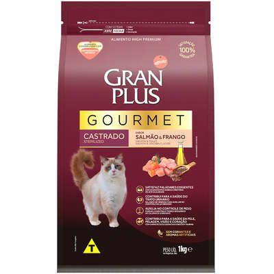 Ração Seca Affinity GranPlus Gourmet Salmão & Frango para Gatos Castrados