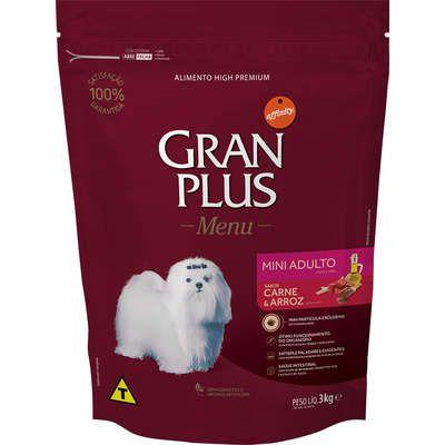 Ração Seca Affinity GranPlus Menu Carne e Arroz para Cães Adultos Mini