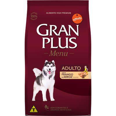 Ração Seca Affinity GranPlus Menu Frango e Arroz para Cães Adultos