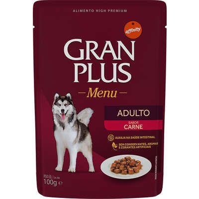 Ração Úmida Affinity GranPlus Sachê Carne para Cães Adultos 100 Gr