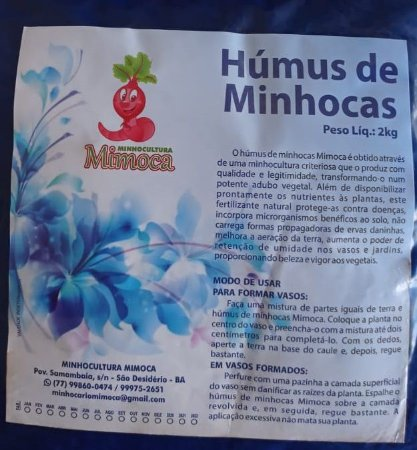 Húmus de Minhoca - 2kg