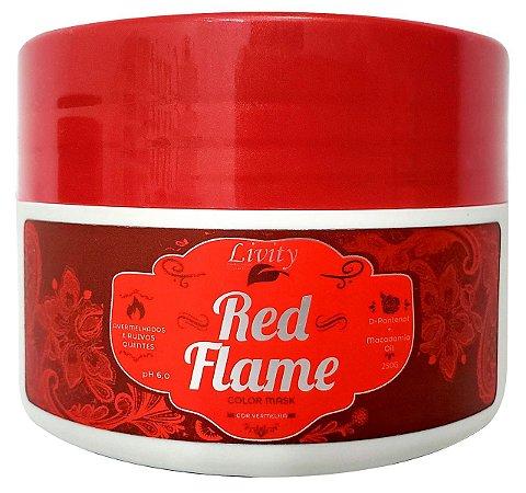Máscara Matizadora Color Mask Red Flame Livity  250 g