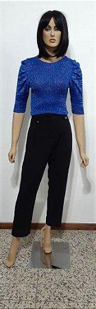Blusa de tricô em Lurex