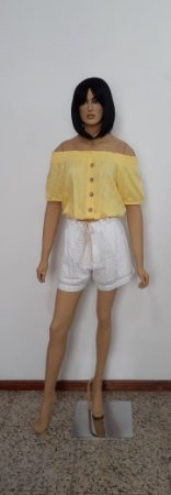 Shorts tecido plano laise com bolso