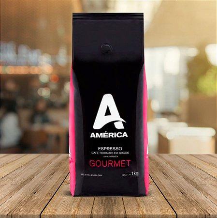Café em Grão América Espresso Gourmet 1kg Caixa Master com 5 pacotes