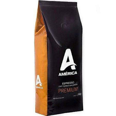 Café América Premium Espresso em Grãos 1kg