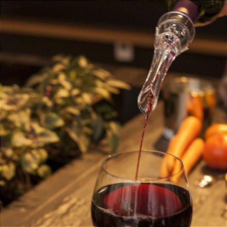 Aerador de Vinhos e Purer Blister Top Wine Transparente