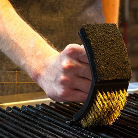 Escova para Limpeza de Grelha com Cerdas em Cobre