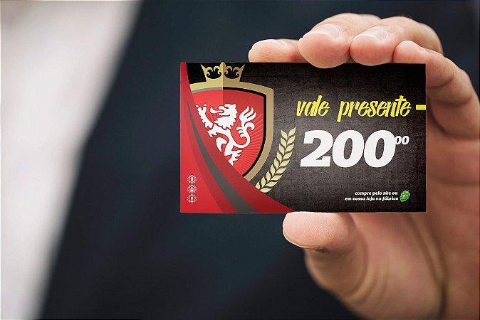 Cartão de Presente R$200,00