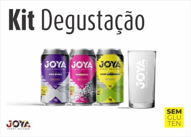 Kit De Hard Seltzer Joya Para Degustação Com 3 Latas + Copo