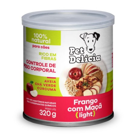 Pet Delícia Light Frango com Maça - 320g