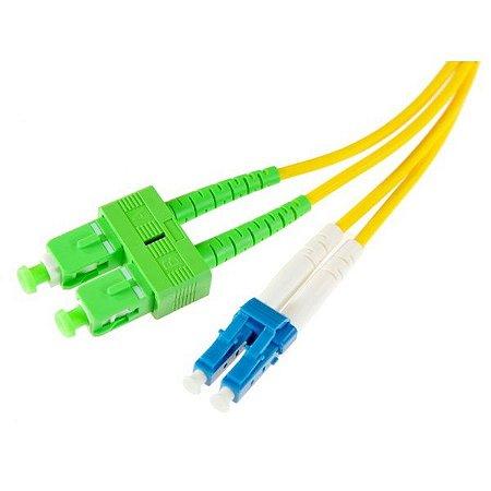 Optical Fiber Patchcord SM, LC / APC - LC / APC, Amarelo, 3m