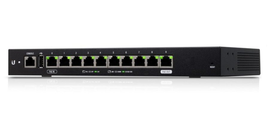 UBIQUITI ER-10X-BR EDGEROUTER 10-PORTS GIGA POE IN - POE OUT
