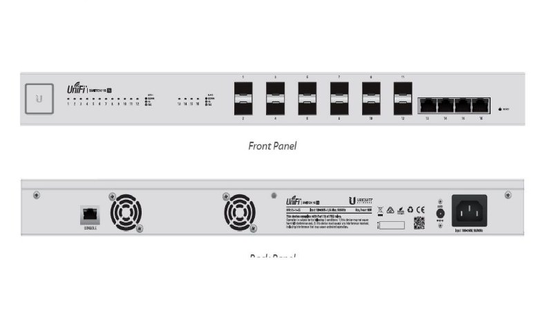 UBIQUITI US-16-XG UNIFI SWITCH 12P 10G SFP+ 4P 10G RJ45