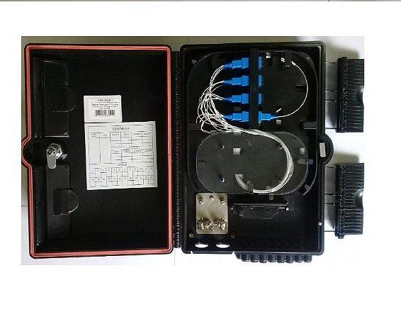 Caixa De Atendimento Fibra Optica 16P Montada Sc/Upc