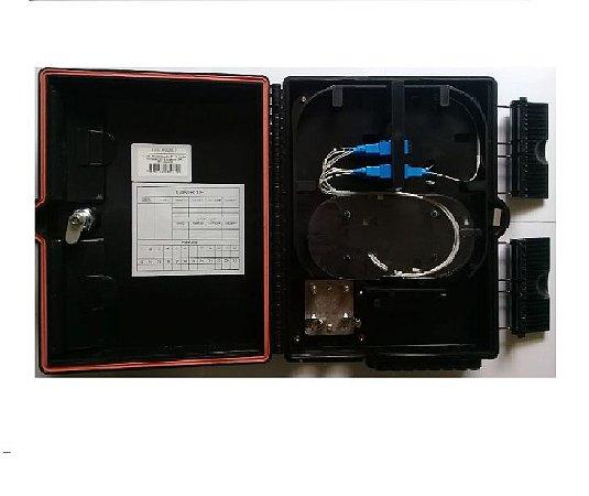 Caixa De Atendimento Fibra Optica 16P Montada 8 Sc/Upc