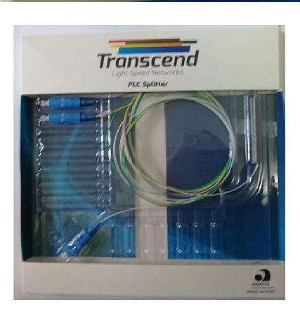 SPLITTER 1x4 COM CONECTORES SC/UPC TRANSCEND HOMOLOGADO