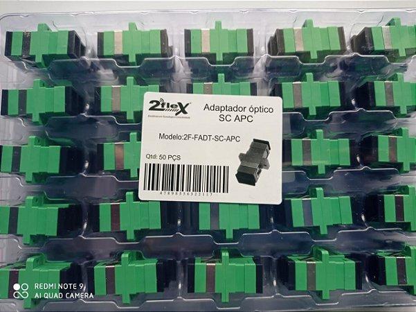 Adaptador Sc-apc Fibra Optica  2flex Homologado 50un