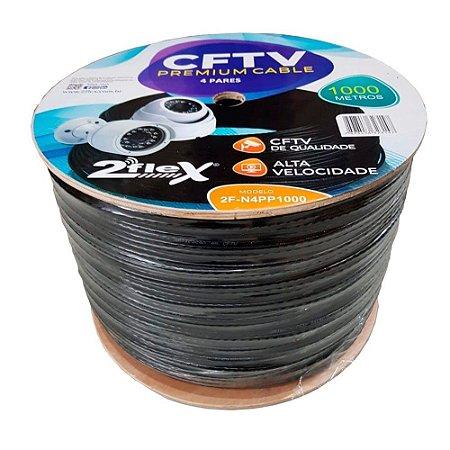 Cabo De Rede Cftv Premium 4 Pares 1000 M 2flex