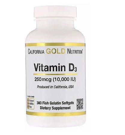 Vitamina D 10.000 California Gold 360 Softgels Importado EUA