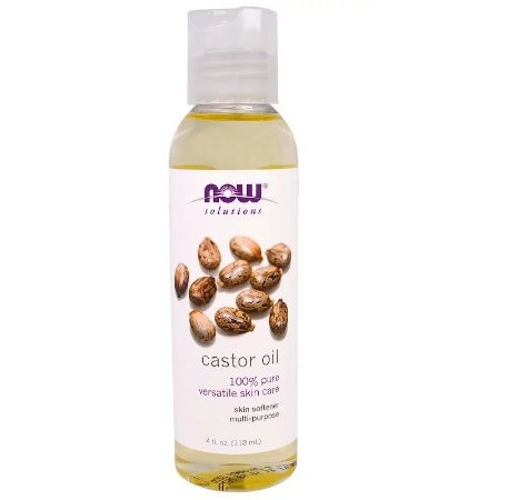 Óleo De Rícino Mamona Castor Oil 118ml Now Solutions Importado EUA