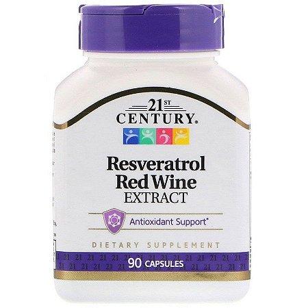 Resveratrol Century Extrato De Vinho Tinto 90 Cápsulas Importado EUA