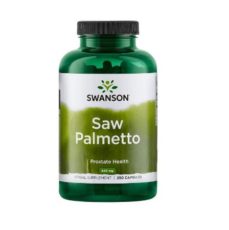 Saw Palmetto Swanson 540mg 250 Cápsulas Importado EUA