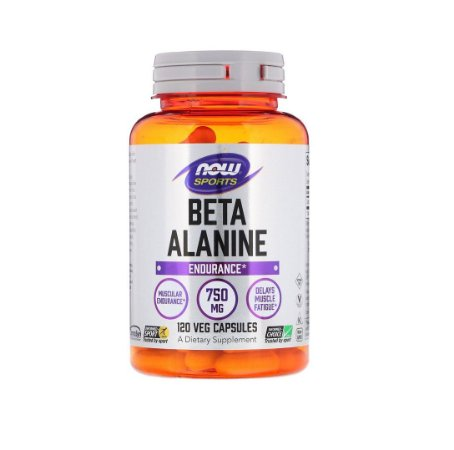 Beta Alanina Endurance 750mg 120 Cápsulas Now Sports