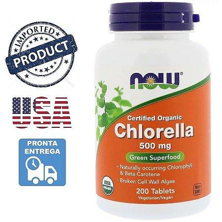 Clorela Orgânica Chlorella 500mg Importada EUA 200 Tabletes