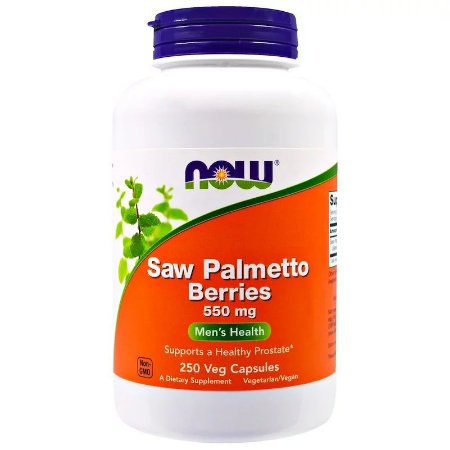 Saw Palmetto Now 550MG Importado EUA 250 Cápsulas