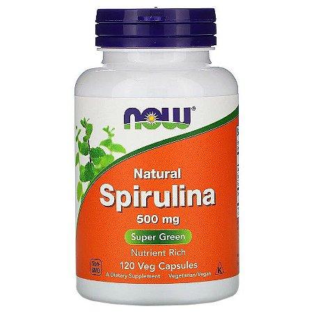 Spirulina Now Foods 500mg Imunidade Proteína Vitaminas Importada EUA