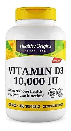 Vitamina D3 Healthy Origins 10000 ui 360capsulas  Importada E U A