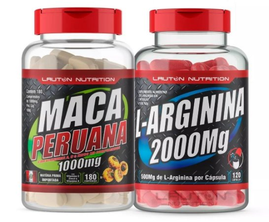 Kit Libido Testosterona Maca Peruana + Arginina Vasodilatador