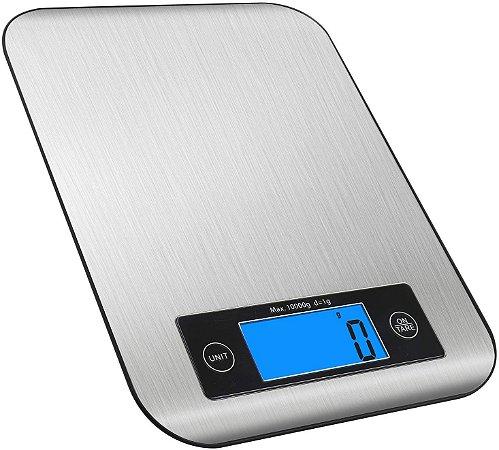 Balança Digital Cozinha Em Aço Inox 10kg Função Tara YOUTEK
