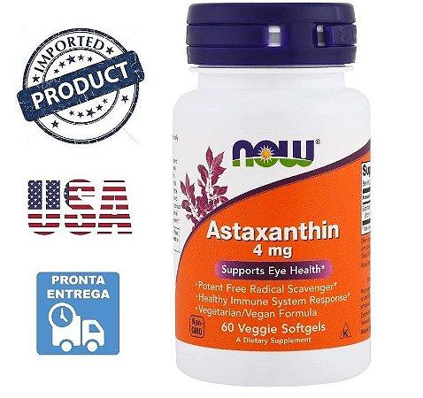 Astaxantina Astaxanthin Now Foods 4Mg 60 Capsulas
