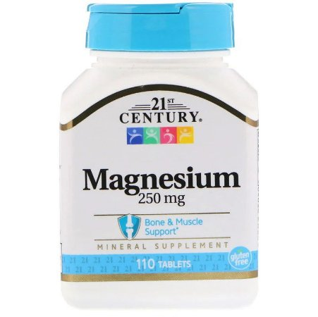 Óxido De Magnésio 250mg Importado EUA Century 110 Tabletes